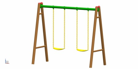 2 Seater A Swing Outdoor Play Equipments Delhi NCR