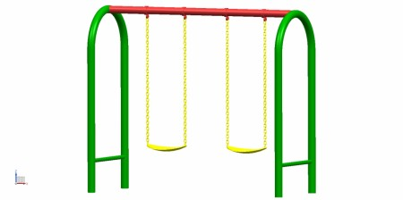 2 Seater U Swing Outdoor Play Equipments Delhi NCR