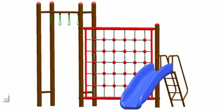 3 In 1 Combo Set Outdoor Play Equipments Delhi NCR