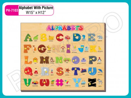 Alphabet With Picture Activity Toys Delhi NCR