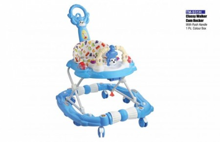 Classy Walker Cum Rocker With Push Handle Blue Walker Delhi NCR