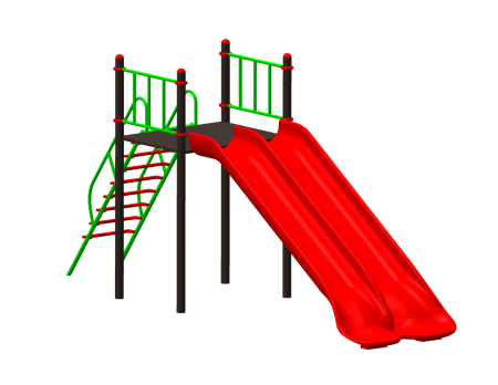 Double Wave Slide Outdoor Play Equipments Delhi NCR
