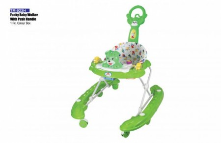 Funky Baby Walker With Push Handle Green Walker Delhi NCR