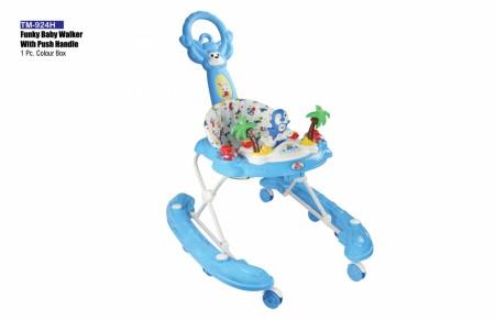 Funky Baby Walker With Push Handle Light Blue Walker Delhi NCR