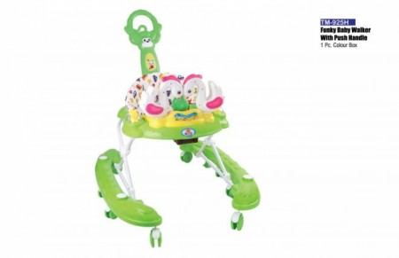Funky Baby Walker With Push Handle Light Green Walker Delhi NCR