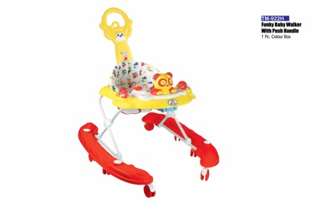 Funky Baby Walker With Push Handle Red Walker Delhi NCR