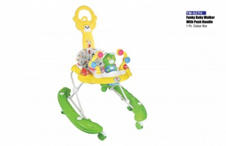 Funky Baby Walker With Push Handle Yellow Green Walker Delhi NCR