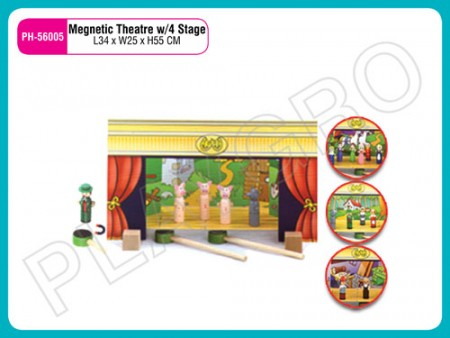 Magnetic Theater W/4 Stage Activity Toys Delhi NCR