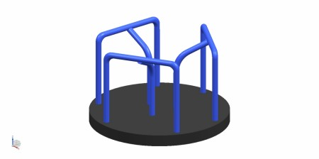 Merry Go Round Blue N Black Outdoor Play Equipments Delhi NCR