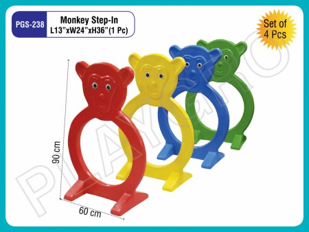 Monkey Step In(Set Of 4 Pc) Indoor Play Equipments Delhi NCR