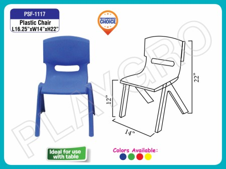 Plastic Chair Blue Junior School Furniture Delhi NCR
