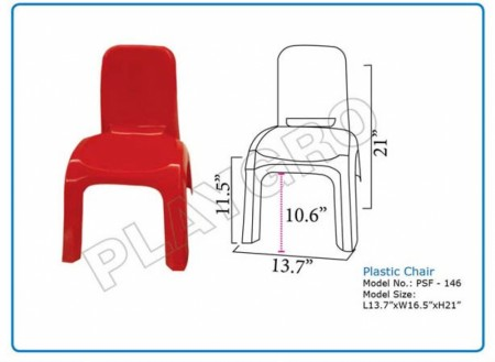 Plastic  Chair Red Junior School Furniture Delhi NCR