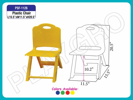 Plastic  Chair Yellow Junior School Furniture Delhi NCR