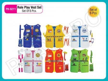 Role Play Vest Set (Set Of 6 Pcs) Activity Toys Delhi NCR
