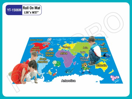 Roll On Mats - With  - Map Play Mats Delhi NCR