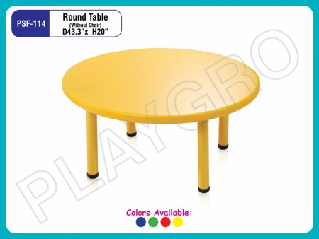 Round Table Yellow Junior School Furniture Delhi NCR