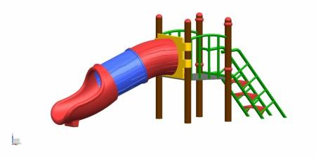 Slide 3 Pcs Tunnel Outdoor Play Equipments Delhi NCR