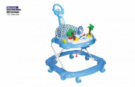 Smarty Baby Walker With Push Handle Blue Walker Delhi NCR