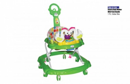 Smarty Baby Walker With Push Handle Green Walker Delhi NCR