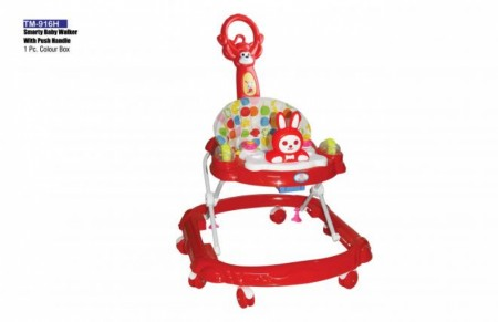 Smarty Baby Walker With Push Handle Red Walker Delhi NCR