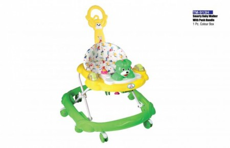 Smarty Baby Walker With Push Handle Yellow Green Walker Delhi NCR