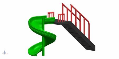 Spiral Slide Outdoor Play Equipments Delhi NCR