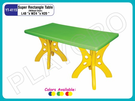 Super Rectangle Table (Table Only) School Furniture Delhi NCR