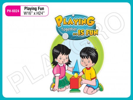 Wall Cutouts - With - Playing  Fun - Quote Activity Toys Delhi NCR