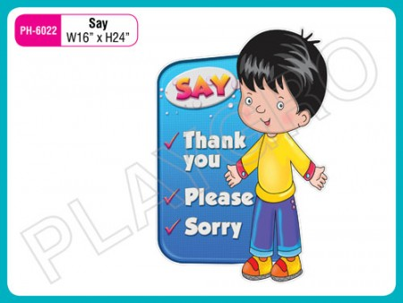 Wall Cutouts With - Nice Habits Words Activity Toys Delhi NCR