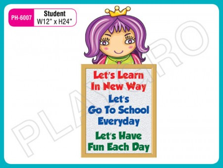 Wall Cutouts - Student(Girl) Activity Toys Delhi NCR