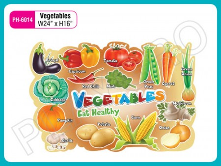 Wall Cutouts - Vegetables - Images Activity Toys Delhi NCR