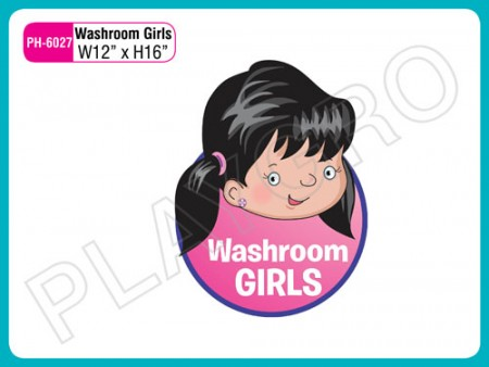 Wall Cutouts -  With - Washroom Girls - Note Activity Toys Delhi NCR