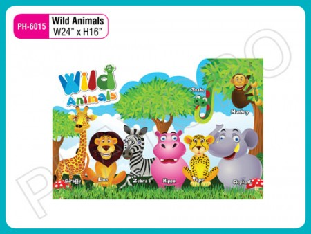 Wall Cutouts - Wild - Animals Activity Toys Delhi NCR
