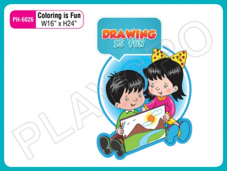 Wall Cutouts - With - Coloring Is Fun - Quote Activity Toys Delhi NCR
