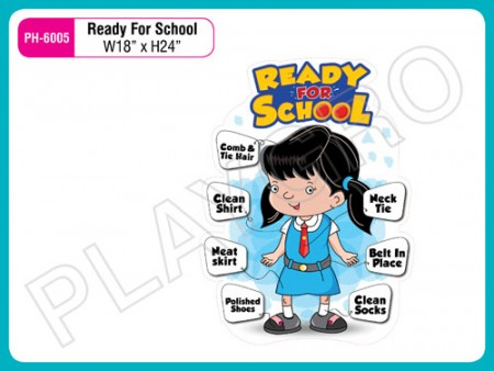 Wall Cutouts - With - Good - Habits -Girl - Image Activity Toys Delhi NCR