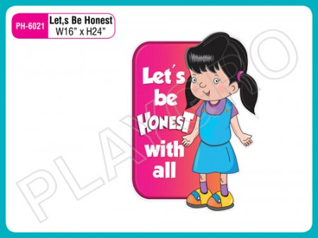 Wall Cutouts - with -Lets Be Honest -  Quote Activity Toys Delhi NCR