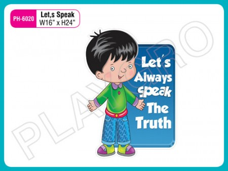 Wall Cutouts - With - Lets Speak - Quote Activity Toys Delhi NCR