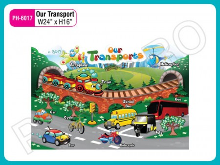 Wall Cutouts - With - Our - Transport - Image Activity Toys Delhi NCR