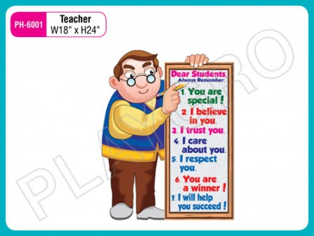 Wall Cutouts - With - Teacher - Cartoon - Image Activity Toys Delhi NCR