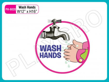Wall Cutouts - With -Wash Hands - Note Activity Toys Delhi NCR
