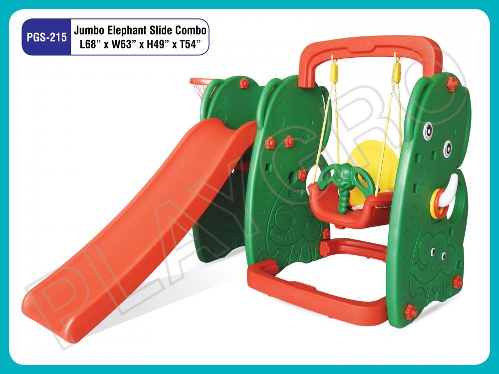 Best Elephant Slide W Swing - Slides- swing Combo Manufacturer in Delhi NCR