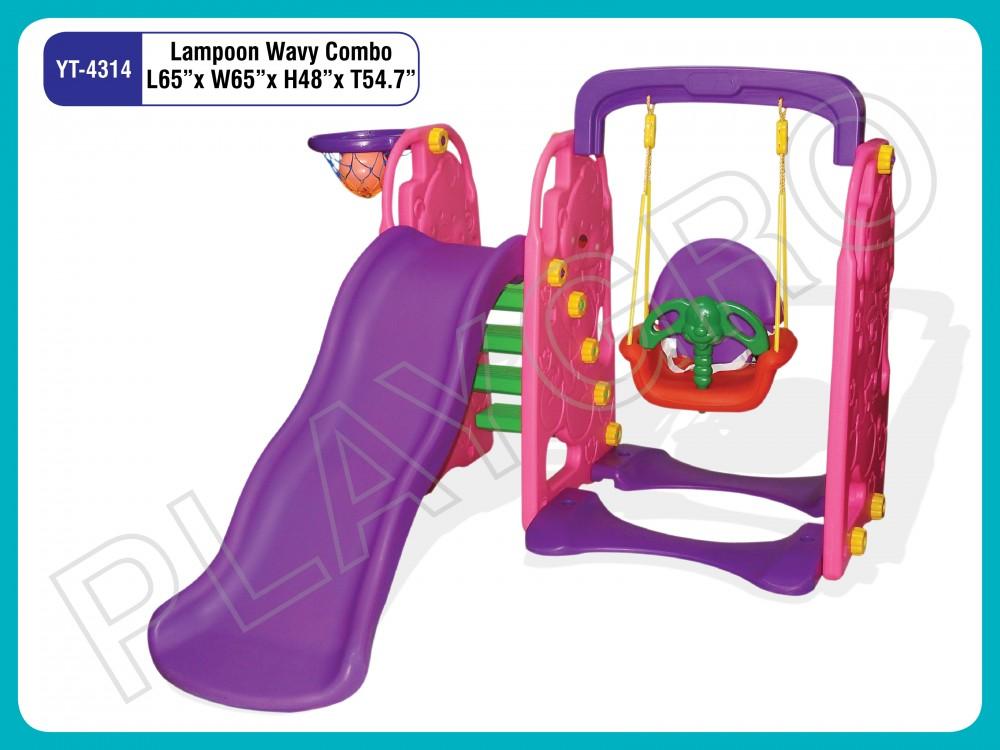 Best Lampoon Wavy Jumbo Combo - Slides- swing Combo Manufacturer in Delhi NCR